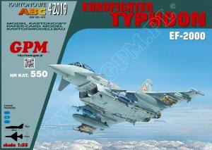 EUROFIGHTER TYPHOON EF-2000 der Royal Air Force 1:33 (GPM 550)