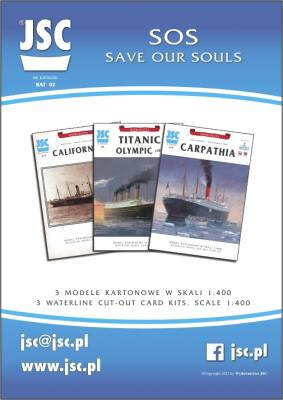 SOS Save our souls: 3 Modelle: Carpathia, RMS Titanic oder RMS Olympic und Californian 1:400 präzise