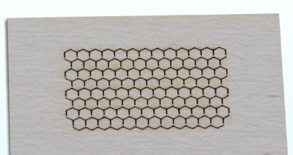 Lasercut Sechskant Schraubenköpfe 1,0 mm 200 Stück Draf Model