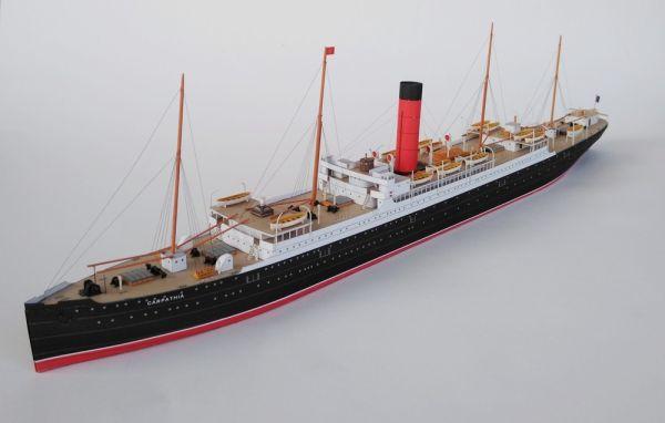 Kartonmodell Britisches Passagierschiff Carpathia 1:400 JSC