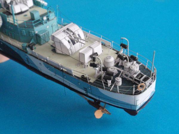 Kartonmodell Britischer Zerstörer HMS Cotswold 1:200 Card Fleet