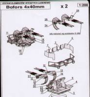 2 Stck. 4x40mm-Vierling BOFORS a...