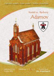 Bärnwald Kartonmodell Kirche der Himmelfahrt der Jungfrau Maria in Neratov ...